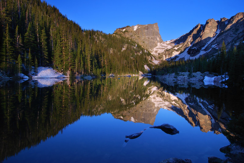 Dream Lake Reflections Rocky Mountain National Park, Colorado.  Copyright © 2009 All rights reserved.