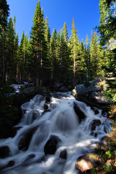 Glacier Falls Rocky Mountain National Park, Colorado.  Copyright © 2009 All rights reserved.