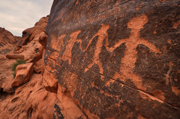 Petroglyphs in Fire Canyon  Valley of Fire State Park, Nevada.  Copyright © 2011 All rights reserved.