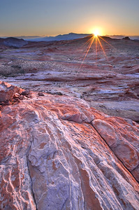 Sunrise over Fire Valley of Fire State Park, Nevada.  Copyright © 2012 All rights reserved.
