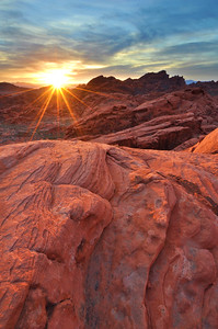 Sunrise Above Sandstone Valley of Fire State Park, Nevada.  Copyright © 2011 All rights reserved.