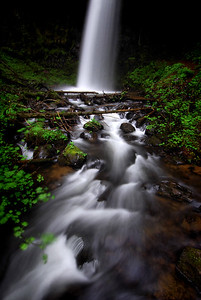 Upper Lattourell Falls.  Columbia River Gorge, Oregon.  Copyright © 2008 All rights reserved.