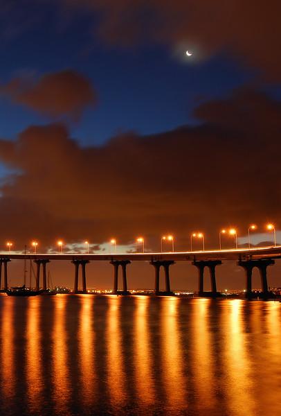 Coronado Bay Bridge (Clearing Morning Storm) Coronado, California.  Copyright © 2008 All rights reserved.
