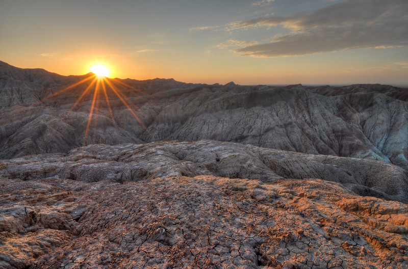 Sunrise in the Borrego Badlands  Anza-Borrego State Park, California.  Copyright © 2011 All rights reserved.