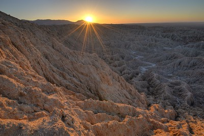 Sunrise in the Badlands Anza-Borrego State Park, California. Copyright © 2013 All rights reserved.
