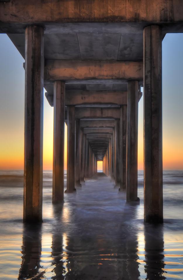 Scripps Pier (Post sunset)<br /> La Jolla, California.<br /> <br /> Copyright © 2011<br /> All rights reserved.