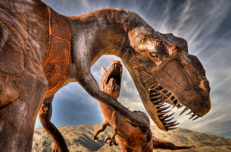 """""""Steel Terrors"""" Galleta Sculptures Borrego Springs, California.  Copyright © 2011 All rights reserved."""