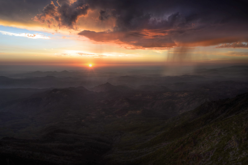 -FEATURED PHOTOGRAPH (July 2013) <br /> @ Viewbug.com<br /> <br /> Sunset and Rain (Cuyamaca Summit)<br /> Rancho Cuyamaca State Park, California.<br /> Copyright © 2012<br /> All rights reserved.