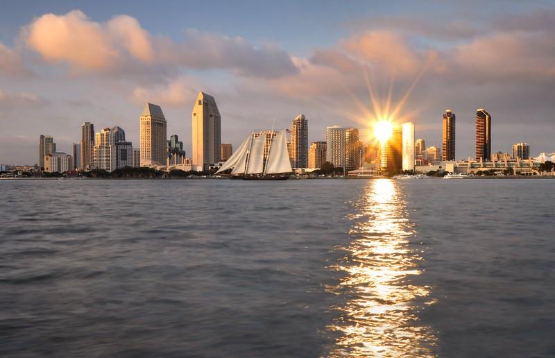 San Diego Skyline (Sunset) Coronado, California. Copyright © 2011 All rights reserved.