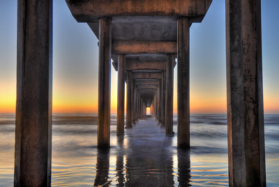 Scripps Pier (Post sunset) La Jolla, California.  Copyright © 2011 All rights reserved.