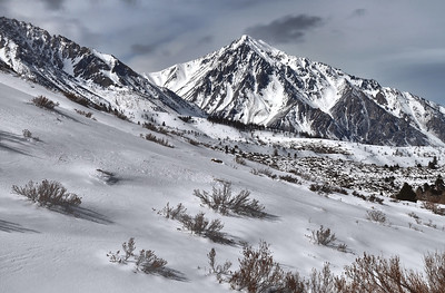 Mount Tom in Winter (from the South) Sierra Nevada Range, California. Copyright © 2010 All rights reserved.