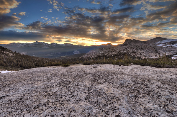 Sunrise over Cathedral's Shoulder Yosemite National Park, California. Copyright © 2011 All rights reserved.