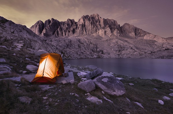 Camping at Upper Barrett Lake Kings Canyon National Park, California. Copyright © 2012 All rights reserved.