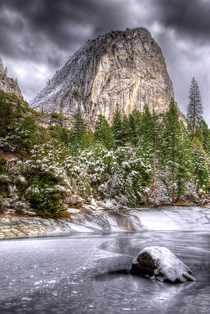 Liberty Cap in Winter Yosemite National Park, California.  Copyright © 2007 All rights reserved.