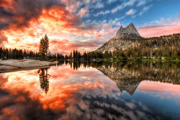 Last Light at Cathedral Lake Yosemite National Park, California. Copyright © 2011 All rights reserved.