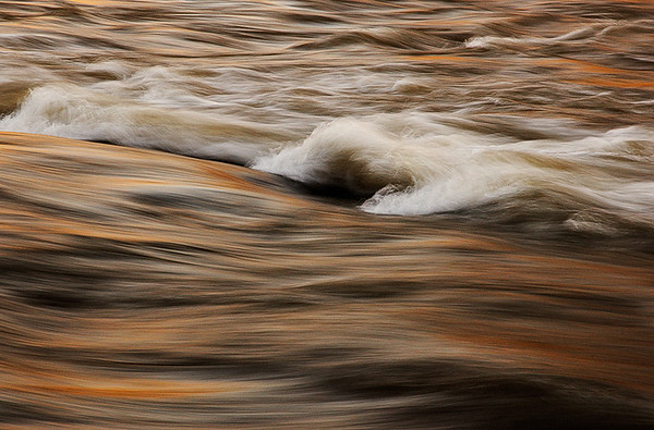 Chattahoochee River Study;  Color  Abstract #4