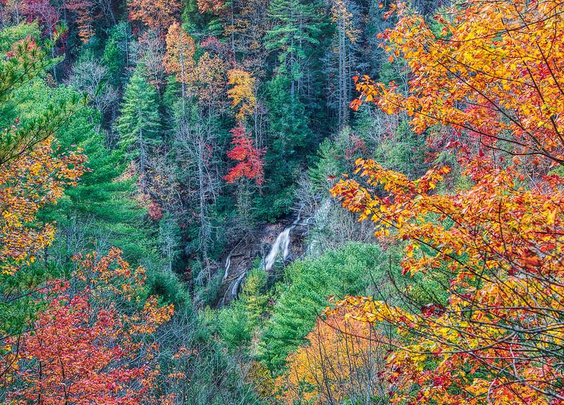 Davis Creek Falls, Autumn