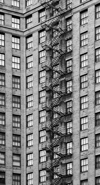 Windows and Fire Escape, Chicago