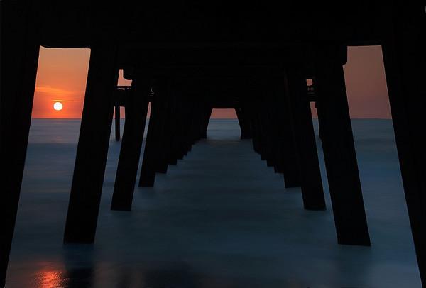 Sun Rising Behind Tybee Pier