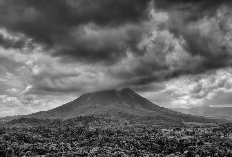 Arenal Volcano Under Cloud Cover