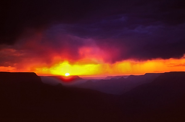 Storm Over Grand Canyon at Sunset
