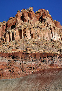 Sandstone Formation In Capitol Reef NP