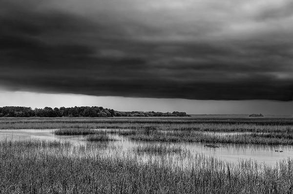 Storm Approaching Coastal Marsh