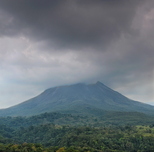 Cloud Shrouded Arenal Volcano