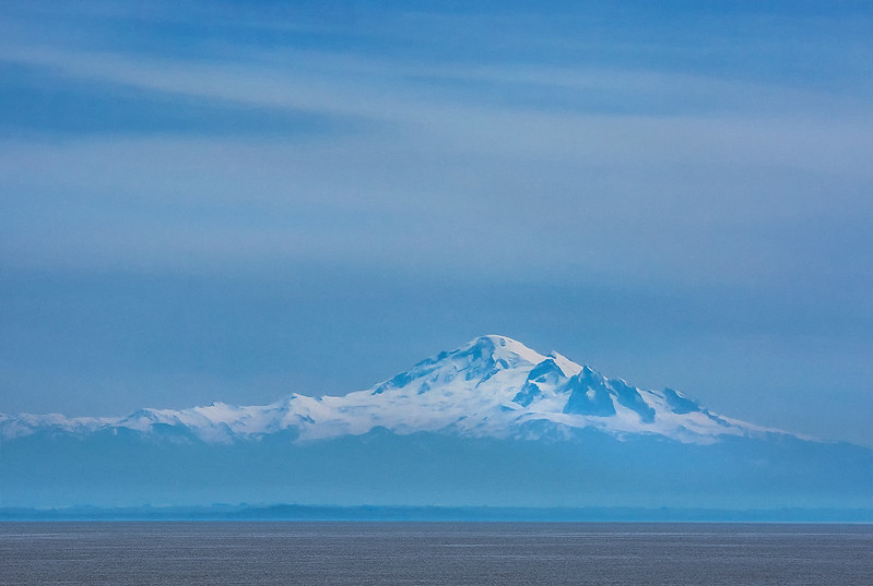 Mt Baker From Across The Strait of Georgia
