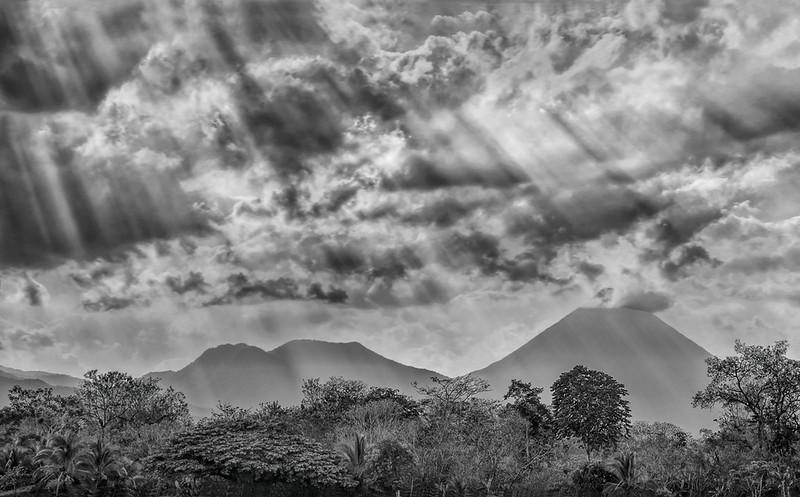 Celestial Sky Over Arenal Volcano