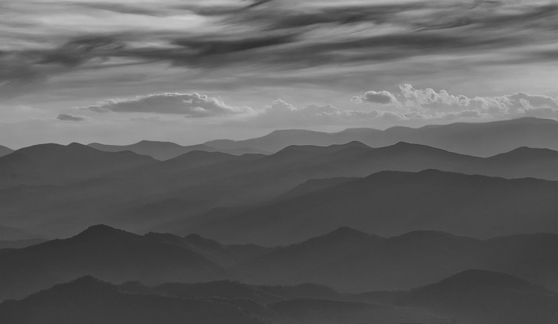Layered Mountains Along Blue Ridge Parkway