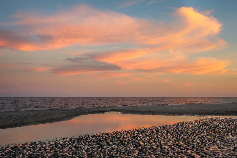 Sunset At Jekyll Beach