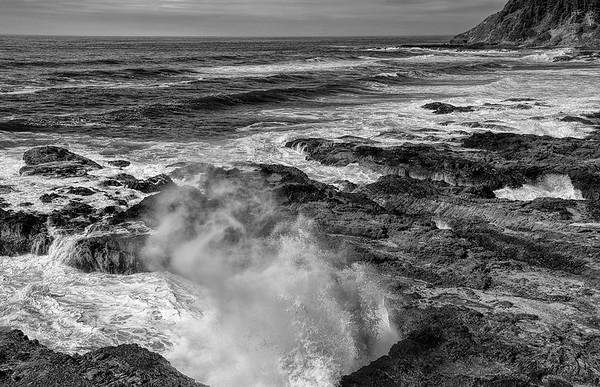 Breaking Surf At Cape Perpetua