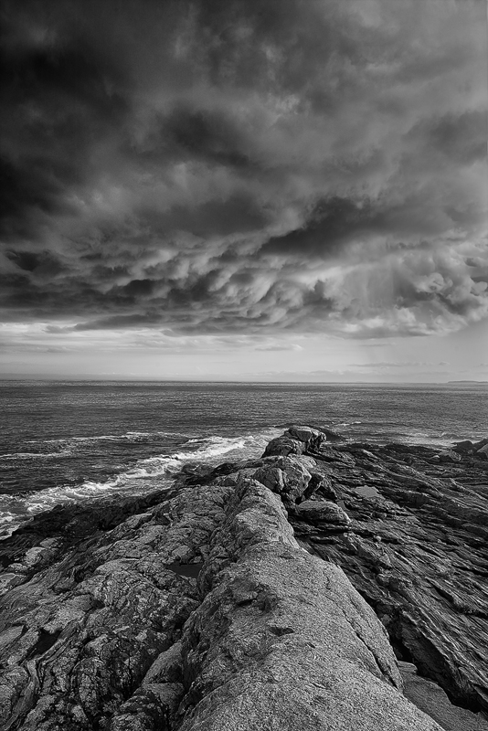 Approaching Storm At  Pemaquid Point