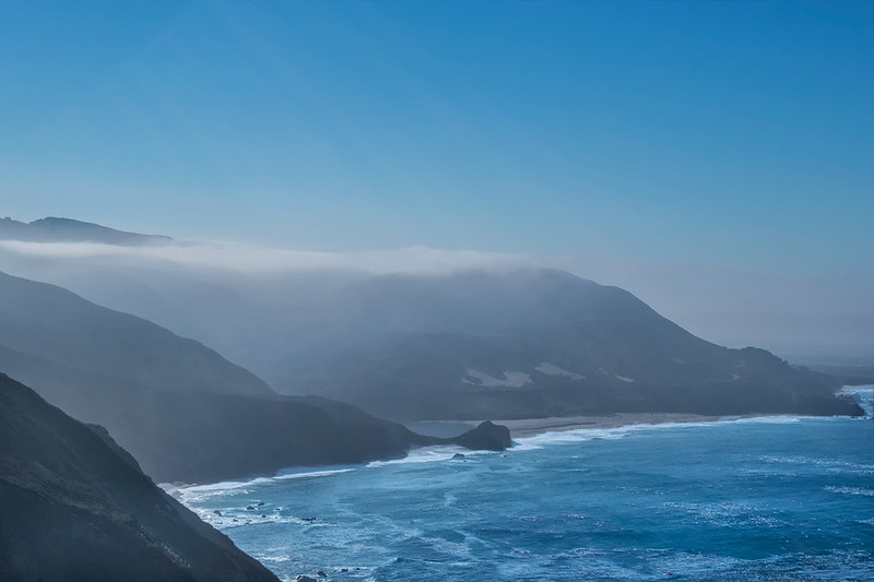 Morning Fog On Big Sur Coastline