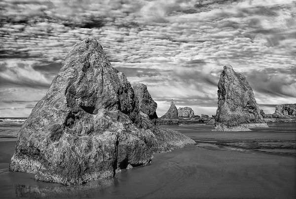 Bandon Beach At Low Tide
