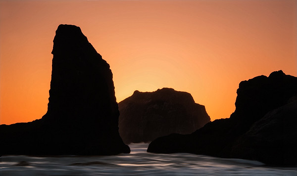 Sea Stacks Silhouette