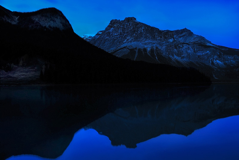 Blue Twilight At Emerald Lake