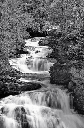 Cullasaja Falls, Spring