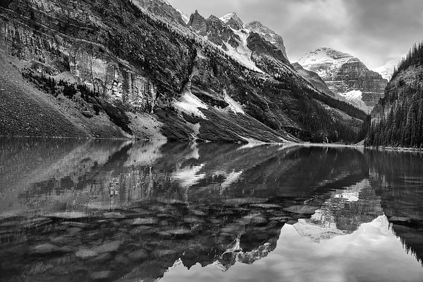 Mt Victoria Reflected In Lake Louise