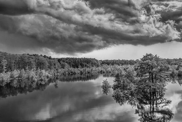 West Arm Creek Under Storm Clouds
