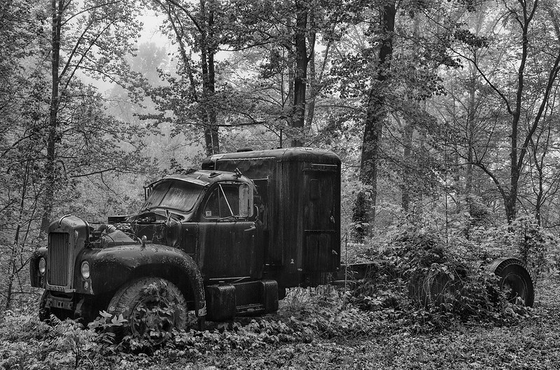 Abandoned Truck In The Nantahala Forest