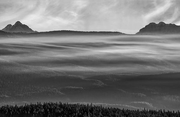 Morning Fog Below Castle Mountain