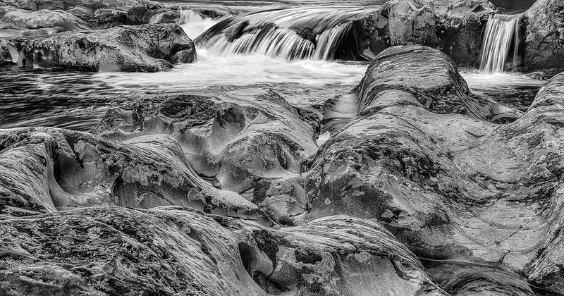 River Rocks And Waterfall On Little Pigeon River
