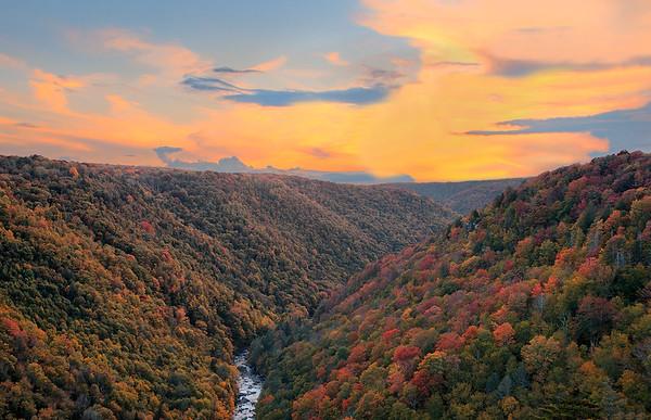 Autumn Sunset At Blackwater Canyon