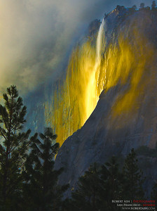 """Last Light at Yosemite Firefall""   2nd Place, Illustrative category  Professional Photographers of the Greater Bay Area print competition   Copyright (c) Robert Ash"