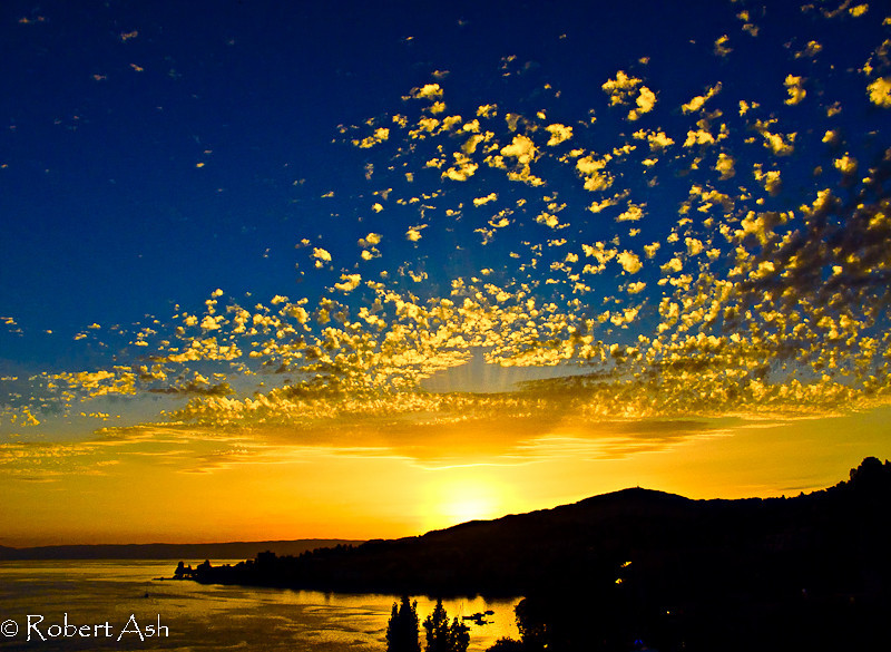 """Montreux Sunset 01""<br /> Montreux, Switzerland<br /> <br /> Copyright ©  Robert Ash. All rights reserved."