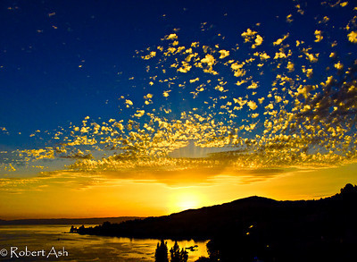 """Montreux Sunset 01"" Montreux, Switzerland  Copyright ©  Robert Ash. All rights reserved."