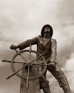 Gloucester Fisherman's Memorial (Sepia)