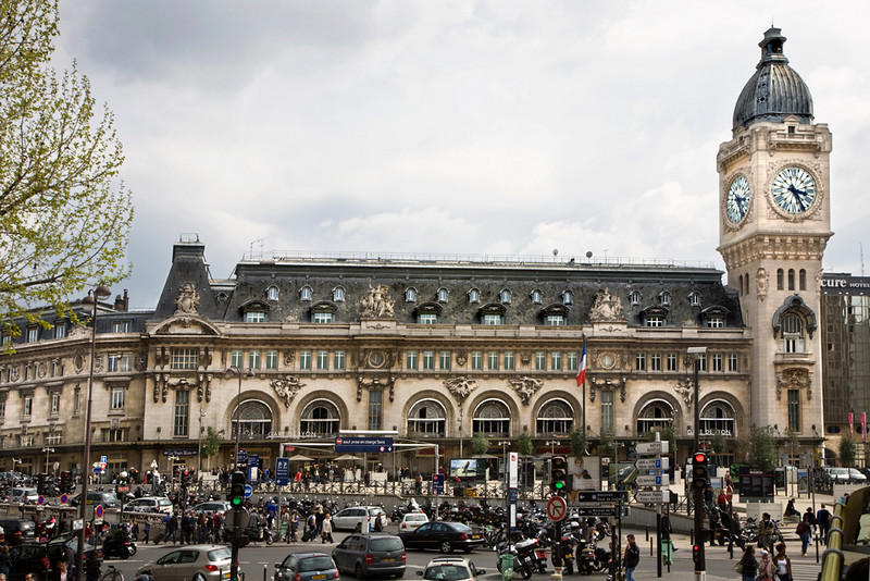 The Gare de Lyon, built for the Exposition Universelle of 1900, serves as a major link to the south of France and is one of six railway stations in Paris.<br /> <br /> The 211 foot high clock tower is similar in design to the clock tower of the British Houses of Parliament, and is situated to be visible from Place de la Bastille.